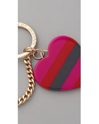 Marc By Marc Jacobs | Red Stacked Heart Keychain | Lyst