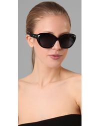 Marc Jacobs - Black Cat Eye Sunglasses - Lyst
