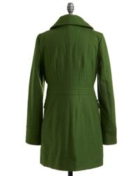ModCloth - Green Junior Copy Writer Coat in Grass - Lyst