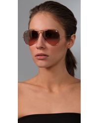 Ray-Ban | Metallic Oversized Original Aviator Sunglasses | Lyst