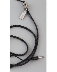 Rebecca Minkoff - Black Zipped Up Ear Phones - Lyst