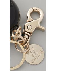 See By Chloé | Black Pumpkin Man Keychain | Lyst