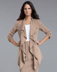 St. John | Beige Milano Ruffle Jacket | Lyst