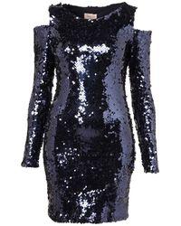 TOPSHOP | Blue Long Sleeve Applique Mini Dress | Lyst