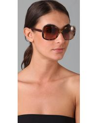 Tory Burch - Multicolor T Logo Sunglasses - Lyst