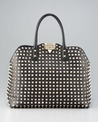 Valentino - Black Rockstud Dome Bag - Lyst