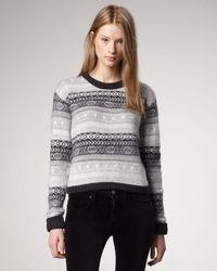 Burberry Brit | Gray Fair Isle Sweater | Lyst