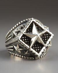 King Baby Studio - Metallic Star Ring for Men - Lyst