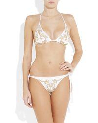 La Perla | White Embroidered Bikini | Lyst