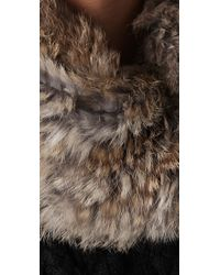 Marc By Marc Jacobs - Natural Lee Lee Rabbit Fur Accented Snude - Lyst