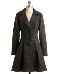 ModCloth | Gray Prim The Know Coat | Lyst