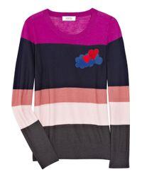 Sonia by Sonia Rykiel | Multicolor Striped Wool Intarsia Sweater | Lyst