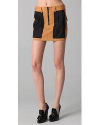 Alexander Wang | Brown Utility Skirt | Lyst