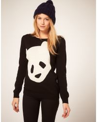 ASOS Collection | Black Asos Panda Jumper | Lyst