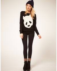 ASOS Collection | Black Asos Panda Jumper | Lyst