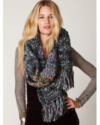 Free People | Blue Forester Scarf | Lyst