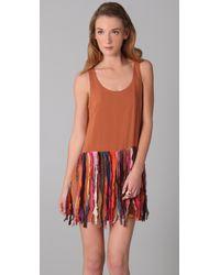 Sass & Bide - Brown The Calm One Short Ombre Shift Dress - Lyst