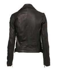 TOPSHOP   Black Traditional Biker Jacket   Lyst