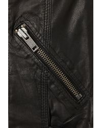 TOPSHOP - Black Traditional Biker Jacket - Lyst