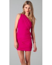 Alice + Olivia | Pink One Shoulder Goddess Dress | Lyst