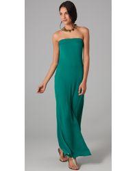 Halston | Green Shark Strapless Gown | Lyst