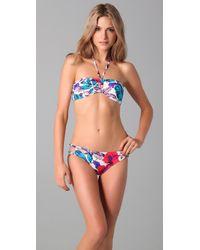 Marc By Marc Jacobs | Blue Havana Floral Bandeau Bikini Top | Lyst