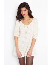 Nasty Gal - Natural Isabella Knit Dress - Lyst