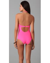 Zero + Maria Cornejo - Pink Oona Swimsuit - Lyst