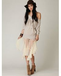 Free People | Metallic Fp One Maxi Godet Sheer Slip | Lyst