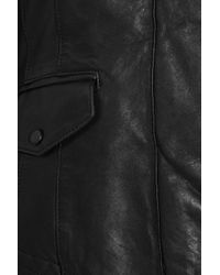 Mackage - Black Lina Leather Jacket with Detachable Gilet - Lyst