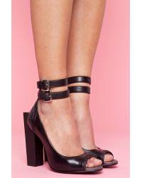 Nasty Gal - Black Block Ankle Heel - Lyst