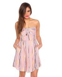 Nasty Gal - Pink Marina Stripe Dress - Lyst