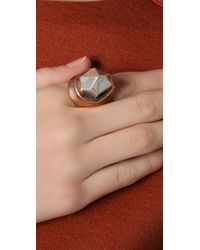 Pamela Love Metallic Single Crystal Ring