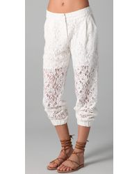 Pencey   White Lace Pants   Lyst