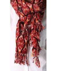 Tory Burch | Red Ikat Scarf | Lyst