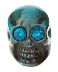 ASOS Collection - Blue Asos Plastic Skull Ring - Lyst