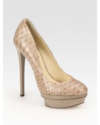 B Brian Atwood | Gray Brian Atwood Pumps | Lyst