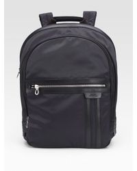 Bally | Black Nylon Backpack for Men | Lyst