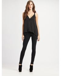 BCBGMAXAZRIA | Black Abbey Studded Open-Back Top | Lyst
