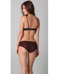 Calvin Klein | Brown Satin Glam Demi Bra | Lyst
