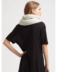 Duffy - Black Textured Knit Scarf - Lyst
