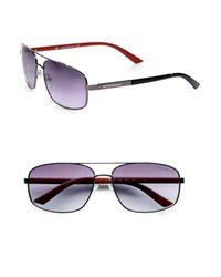 81613f8ab7ad Lyst - Emporio Armani Metal Navigator Sunglasses in Blue for Men