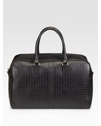 Ferragamo | Black Gamma Overnight Bag for Men | Lyst
