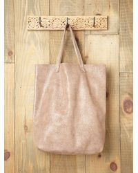 Free People | Natural Cava Shimmer Tote | Lyst