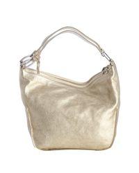 Furla - Metallic Star Gold Leather Hope Shoulder Bag - Lyst