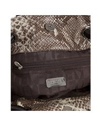 Furla | Gray Roccia Snake Embossed Leather Carmen Medium Tote | Lyst
