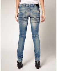 G-Star RAW | Blue New Elva Slim Tapered Jeans | Lyst