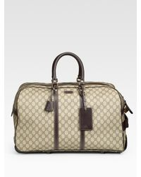 Gucci | Natural Gg-plus Wheeled Duffel for Men | Lyst