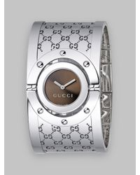 Gucci | Brown Ya112401 Twirl Collection Stainless Steel Watch - For Women | Lyst