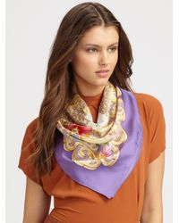 Gucci | Purple Silk Magic Box Foulard Scarf | Lyst